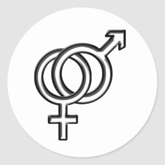 Symbol for Male and Female Classic Round Sticker