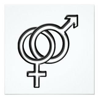 Symbol for Male and Female Invitation