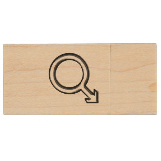 Symbol for Male Wood USB Flash Drive