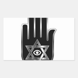 Symbol for psychic or fortune teller rectangular sticker