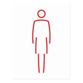 Symbol Frau woman Postkarten