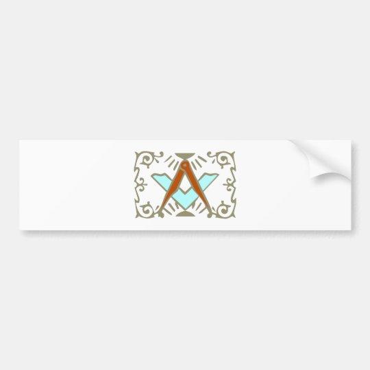Symbol freemason free masons bumper sticker