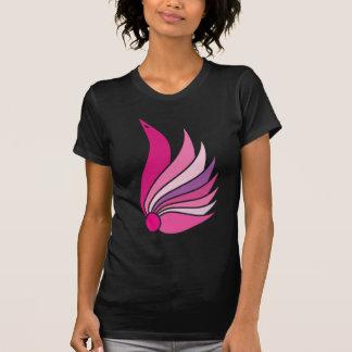 Symbol icon bird t-shirt pink black