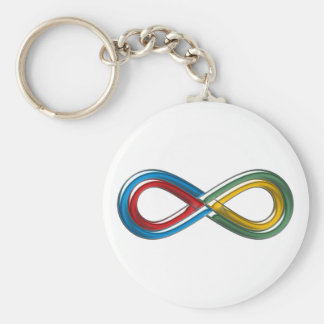 Symbol infinite infinit infinity keychain