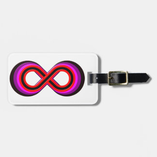Symbol infinity infinity bag tag