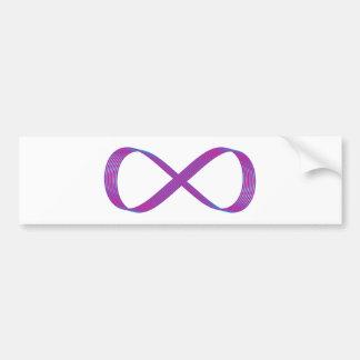 Symbol infinity infinity bumper sticker