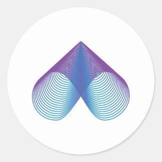 Symbol infinity infinity classic round sticker