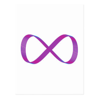 Symbol infinity infinity postcard