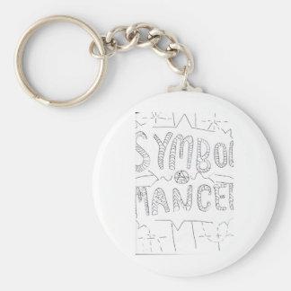 Symbol Mancer Symbols Basic Round Button Keychain