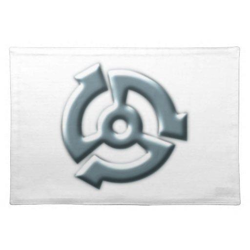 Symbol Metall metal Tisch Set