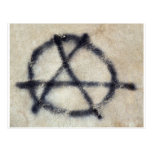 Symbol of Anarchy painted on a wall Postcard
