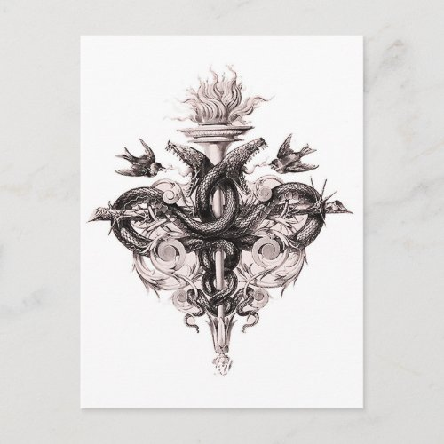 Symbol of Balance Postcard by PaulinSFFour Element Symbols Tattoos