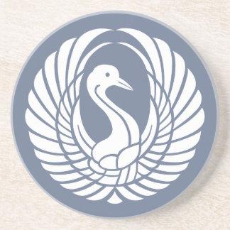 symbol of beautiful crane drink coasters