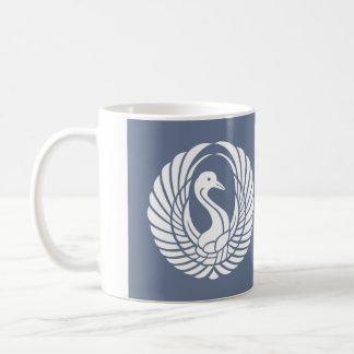 symbol of beautiful crane coffee mug