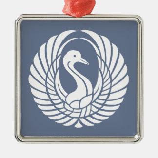 symbol of beautiful crane metal ornament