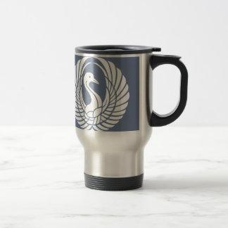 symbol of beautiful crane travel mug
