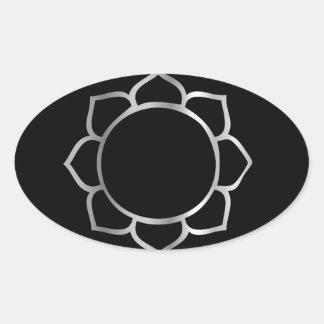 Symbol of Buddhism- Lotus flower Oval Sticker
