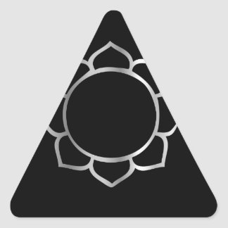 Symbol of Buddhism- Lotus flower Triangle Sticker