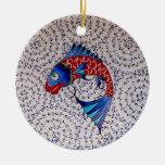 Symbol of Fortune Good Luck Koi Fish Ceramic Ornament