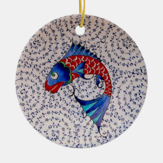 Symbol of Fortune Good Luck Koi Fish Ceramic Ornament