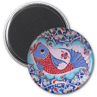 Symbol of Fortune / Tile art 2 Inch Round Magnet
