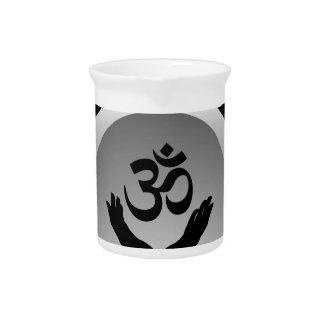 Symbol of Hinduism- om symbol Beverage Pitchers
