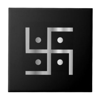Symbol of Hinduism Swastika Tile