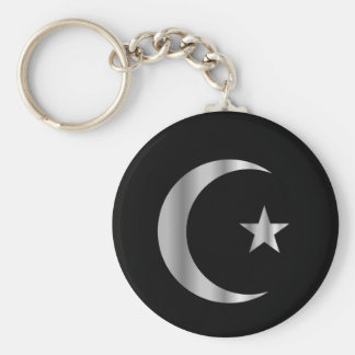 Symbol of Islam Basic Round Button Keychain