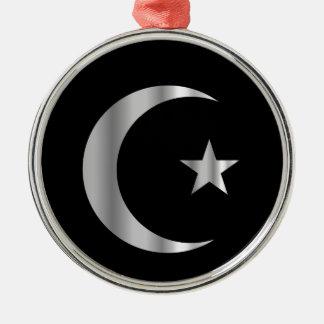 Symbol of Islam Round Metal Christmas Ornament