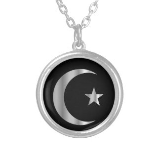Symbol of Islam Round Pendant Necklace