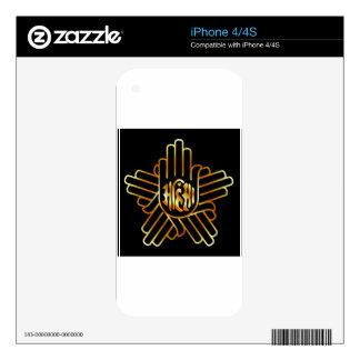 Symbol of Jainism in gold iPhone 4 Skin