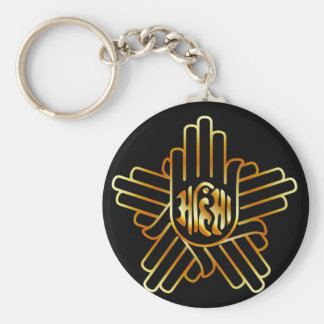 Symbol of Jainism in gold Keychain