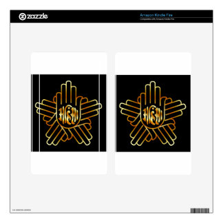 Symbol of Jainism in gold Kindle Fire Decals