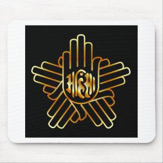 Symbol of Jainism in gold Mouse Pad