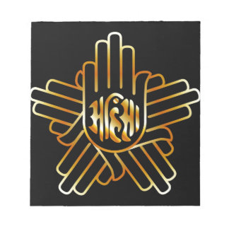 Symbol of Jainism in gold Notepad