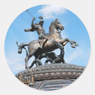 Symbol of Moscow Round Sticker