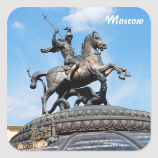 Symbol of Moscow Square Sticker