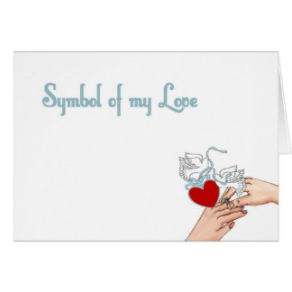 Symbol of my Love with Heart & Doves Ring Card