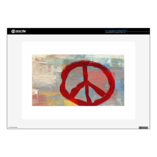 """Symbol of Peace Decals For 15"""" Laptops"""