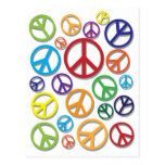 Symbol of Peace with Different Colors Postcard