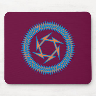 Symbol of polygone of polygons mouse pad