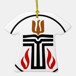Symbol of Presbyterian religion Double-Sided T-Shirt Ceramic Christmas Ornament