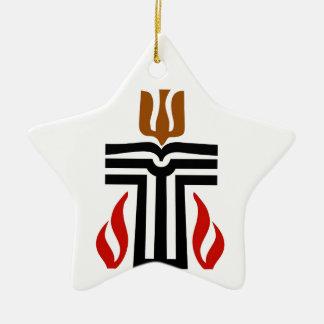 Symbol of Presbyterian religion Double-Sided Star Ceramic Christmas Ornament