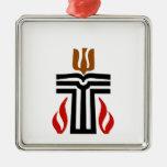 Symbol of Presbyterian religion Square Metal Christmas Ornament