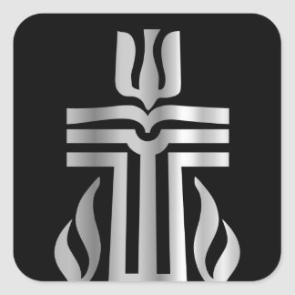 Symbol of Presbyterian religion Square Sticker