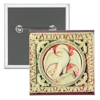 Symbol of St. John the Evangelist 2 Inch Square Button