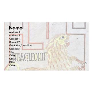 Symbol Of St. Mark (Lion) By Meister Des Evangelia Business Card Templates