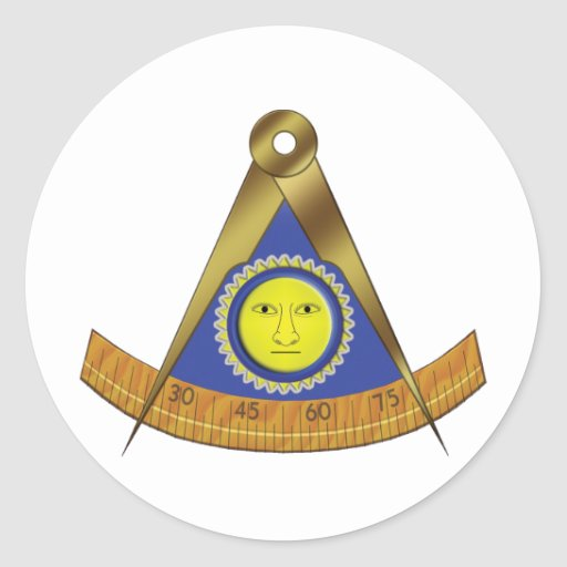 SYMBOL OF THE PAST MASTER CLASSIC ROUND STICKER