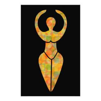 Symbol of the Wiccan goddess Stationery