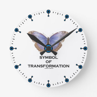 Symbol Of Transformation Butterfly Round Clock